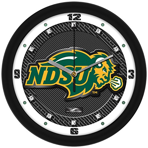 NCAA North Dakota State Bison Textured Carbon Fiber Wall Clock