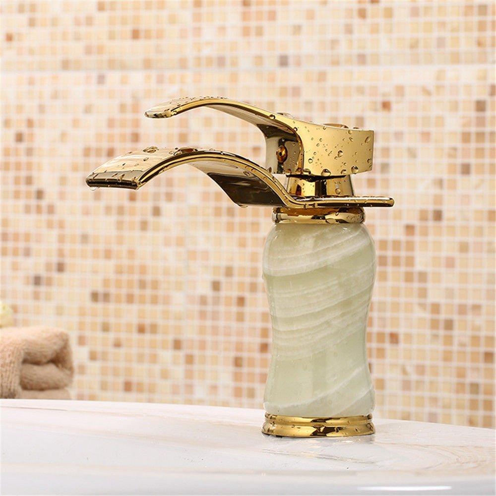Lalaky Badezimmer Wasserhahn Küche Wasserhahn Spültischarmatur Spülbecken Waschtischarmatur Mischbatterie Antiker Jade Kupfer Heiß Und Kalt Einzigen Griff Für Badezimmer Und Küchen