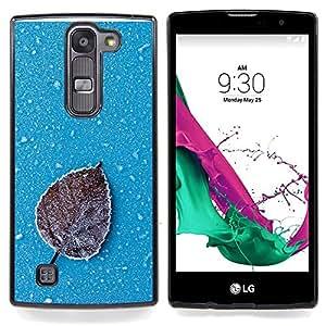 "Qstar Arte & diseño plástico duro Fundas Cover Cubre Hard Case Cover para LG G4c Curve H522Y ( G4 MINI , NOT FOR LG G4 ) (Iced Leaf"")"