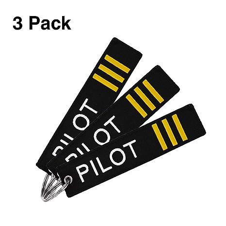 Amazon.com: MELIFE - Llavero de piloto con llavero, 3 ...