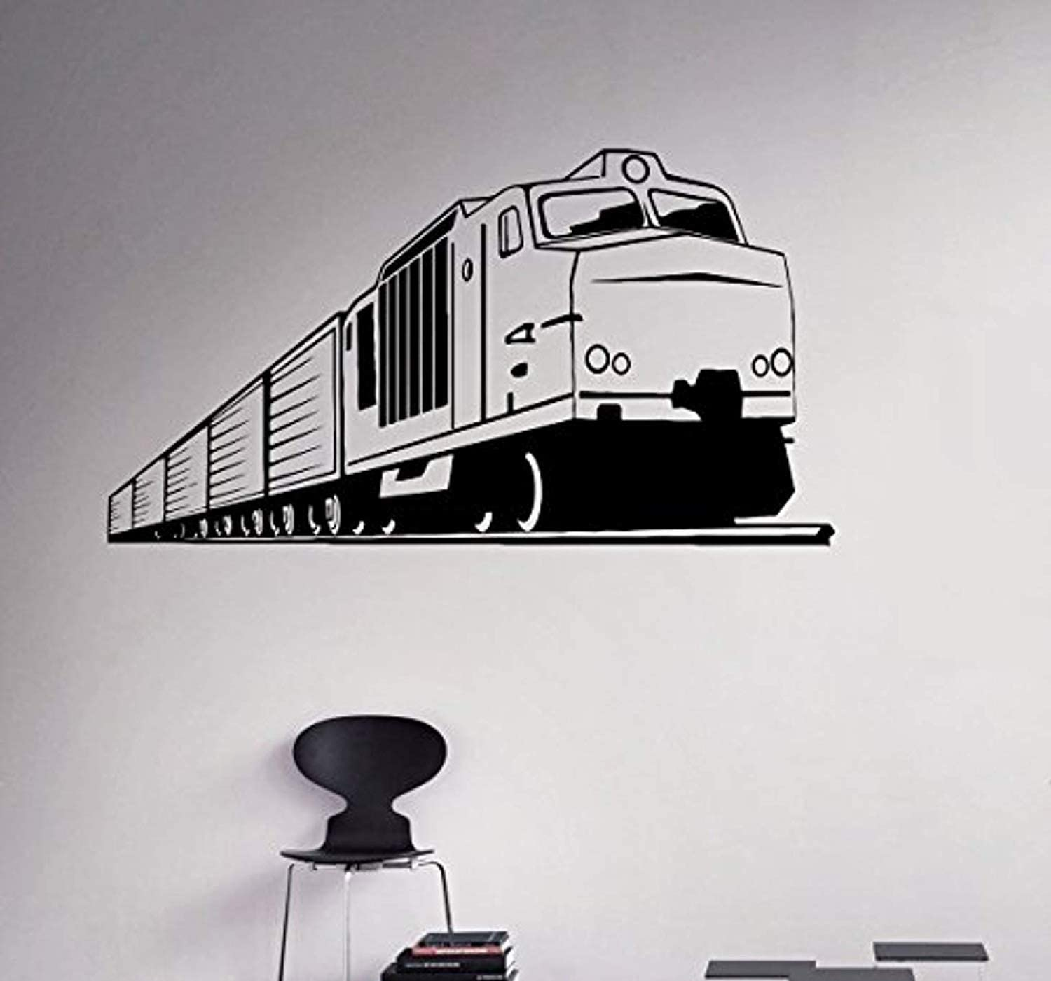 Toy Train Rail Road Wall Sticker Kids Children Home Room Vinyl Art Decals Decor