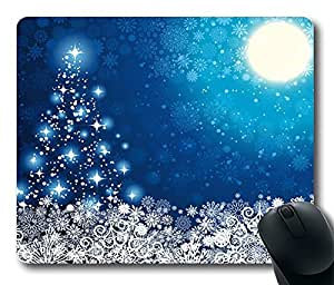 Design Christmas In The Blue Sky1 Mouse Pad Desktop Laptop Mousepads Comfortable Office Mouse Pad Mat Cute Gaming Mouse Pad
