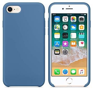 Funda para iPhone 7/8 Carcasa Silicona Suave Colores del Caramelo con Superfino Pelusa Forro,Anti-rasguños Teléfono Caso para Apple iPhone 7/8 (iPhone ...