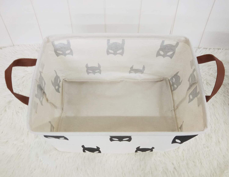 Black Bats Kids or Pets,Clothing,Books.Nursery Basket HIYAGON Rectangular Storage Box,Fabric Storage Bin for Organizing Toys,Collapsible Storage Basket for Baby
