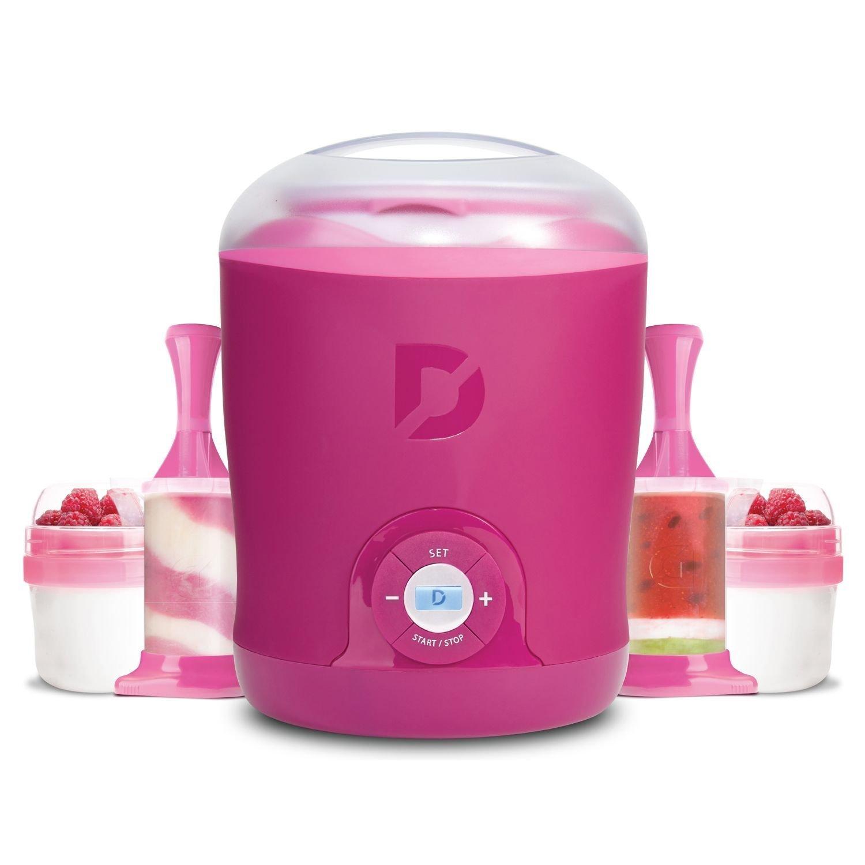 Dash Greek Yogurt Maker Bonus Pack (Pink) by DASH