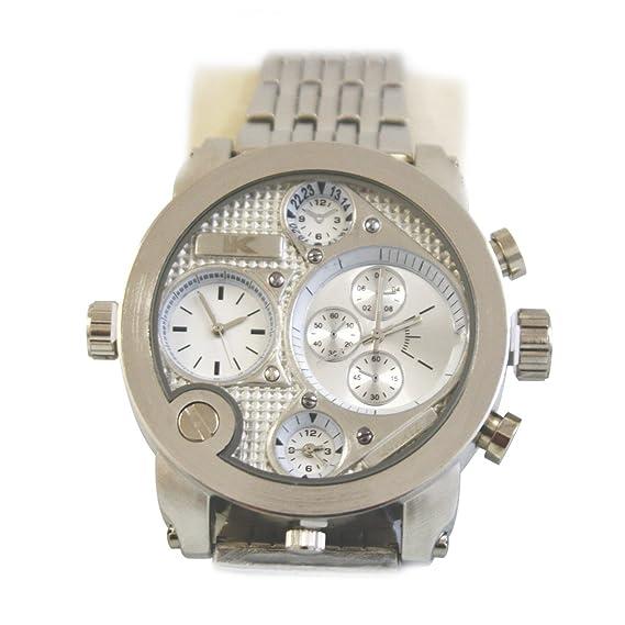 Yaki marcas Hombre Relojes Mode Relojes Hombre Cuarzo Reloj de pulsera Hombres Reloj con esfera grande metal: Amazon.es: Relojes
