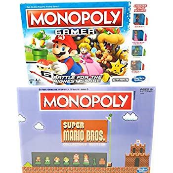 Monopoly Gamer and Super Mario Bros Collector's Edition Board Game Bundle