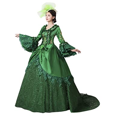 1791u0027s lady Womenu0027s Ball Gown Dress Medieval/Renaissance Costume with Trailing -S  sc 1 st  Amazon.com & Amazon.com: 1791u0027s lady Womenu0027s Ball Gown Dress Medieval/Renaissance ...