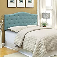 247SHOPATHOME IDF-7989BL-HB-FQ Headboards, Queen/Full, Blue