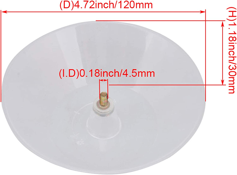 Sevender 2PCS Range Hoods Plastic Round Oil Catcher Collecting Bowl Cup 4.5mm