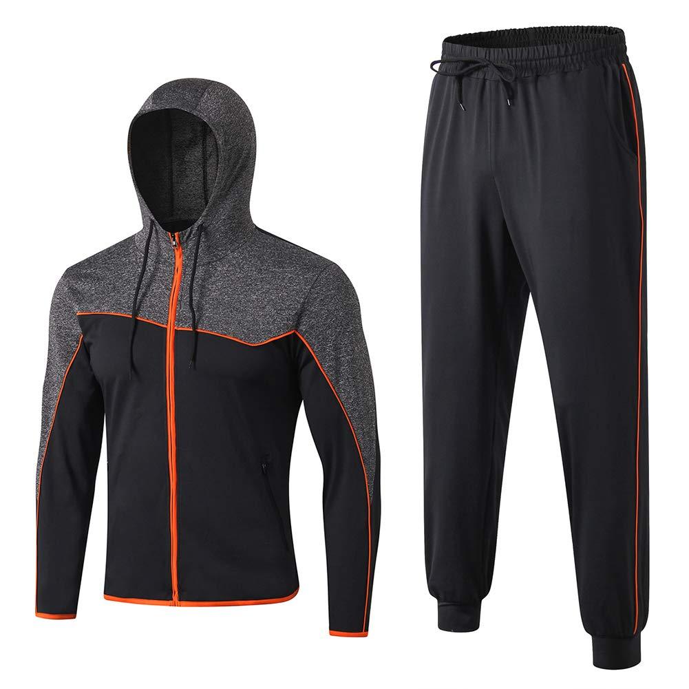Shengwan 2pcs Herren Jogginganzug Trainingsanzug Sportanzug Jogginghose Zipper Hoodie Sporthose