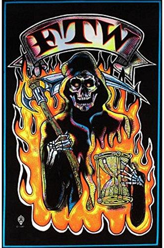 Ftw Grim Reaper Blacklight Poster Print Blacklight Blacklight