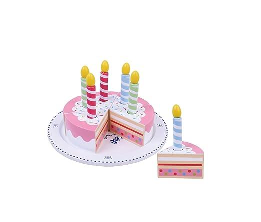 Kitchen - Tarta de cumpleaños con velas - Madera - Sobre ...