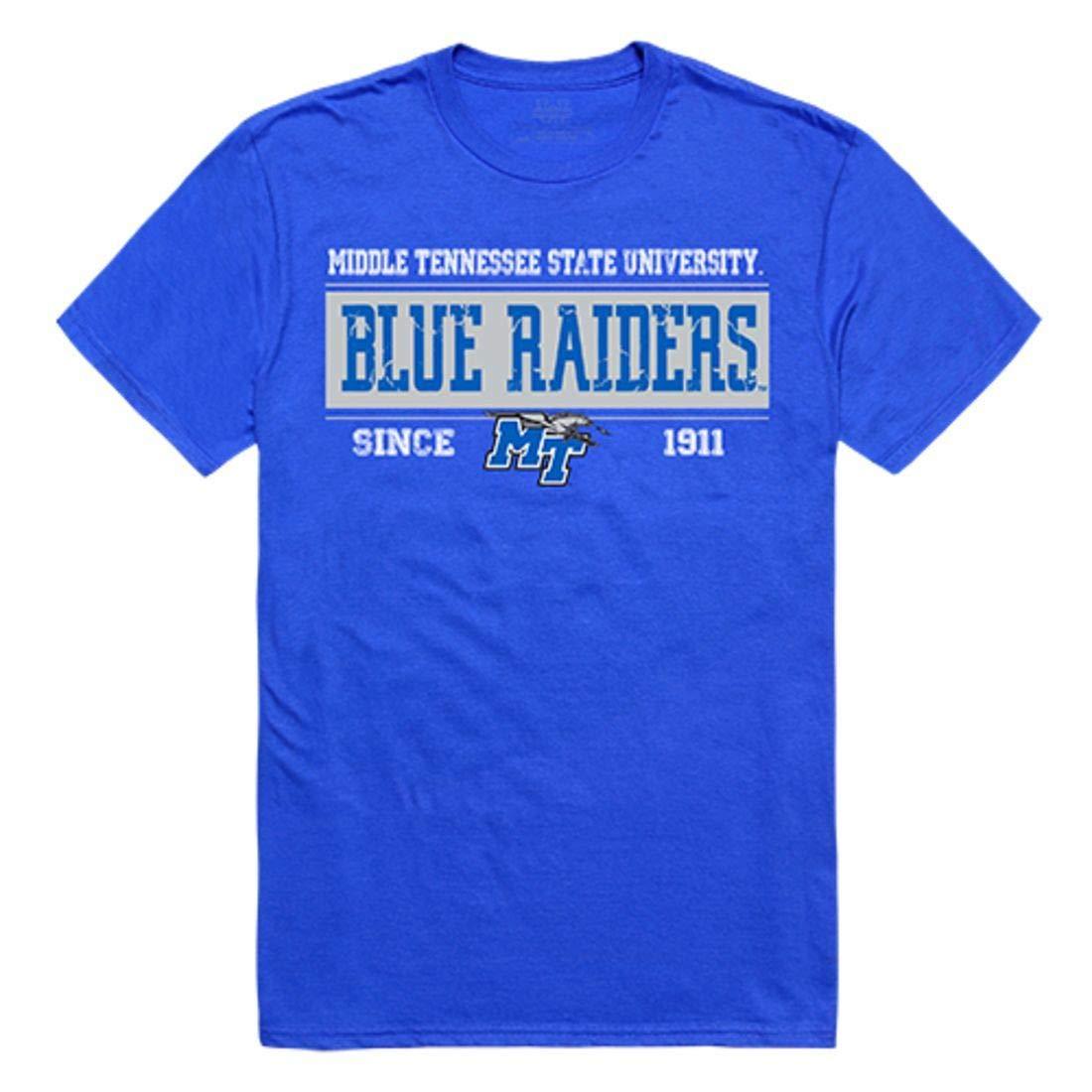 Mtsu Middle Tennessee State University Blue Raiders Established Tees T Shirt Royal