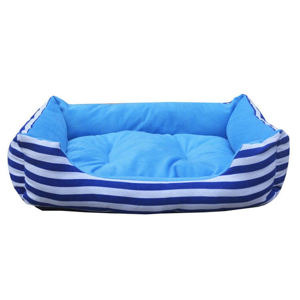 bluee M bluee M WANK Large Striped Dog Bed Sofa Mat House Cot Pet Bed House for Large Dogs Big Blanket Cushion Basket Supplies