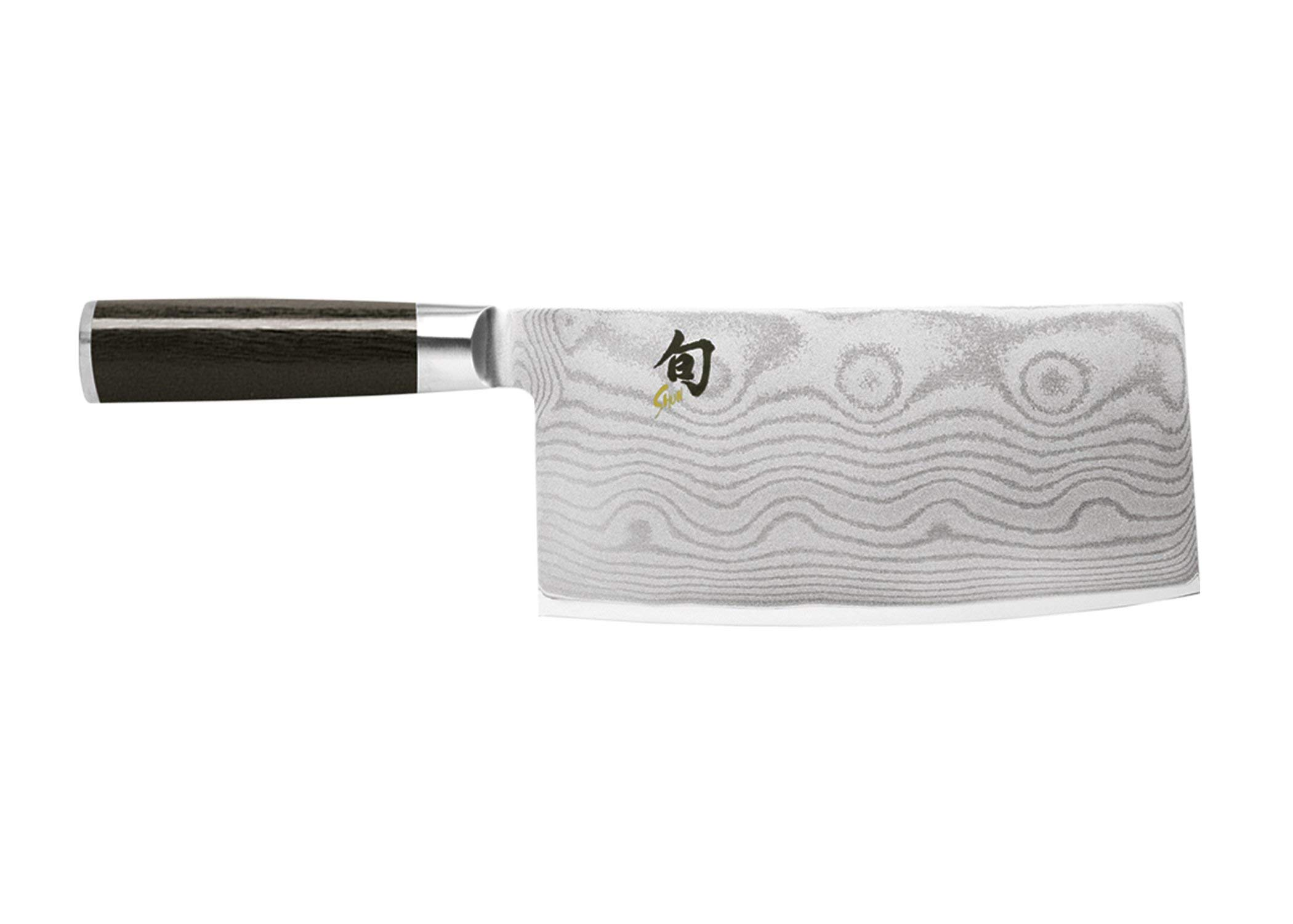 Shun Classic 7'' Vegetable Cleaver; Ebony PakkaWood Handle and VG-MAX Damascus Clad, Blade Steel; Ultimate Tool for Chopping and Slicing Vegetables, Handcrafted in Japan by Skilled Artisans by Shun