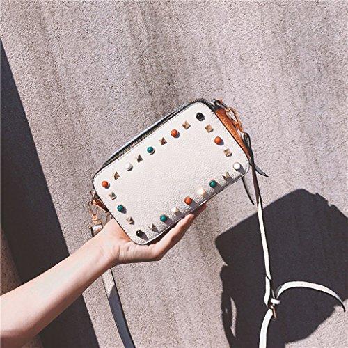 Crossbody Portafoglio Della Rivetti Di Bag Spalla Trousse Multi Colore Cerniera Signora Tracolla Sacchetti Pu colore Vasta Piccoli Mobile 0XOqc
