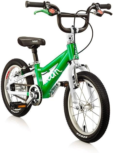 woom 2 Green | bicicleta 14 | 3 – 4,5 años, 95 – 110 cm, 5,2 kg ...