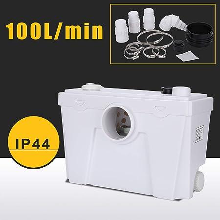 wolketon 4/1 Hebeanlage Fäkalienpumpe 400W Kompakte Abwasserentsorgung Hänge WC Dusche Waschtisch Haushaltspumpe