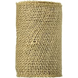 Burlap Ribbon, 6-Inch by 5-Yard