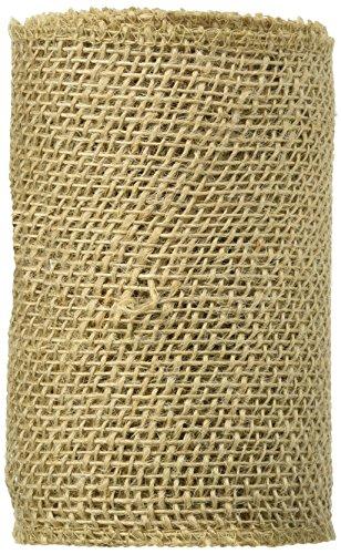 DARICE 2914 042 Burlap Ribbon Natural