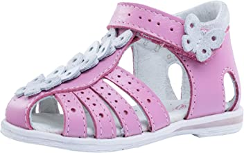 14ca6805a1fb7 Kotofey Baby Girl White Sandals 022047-22 Genuine Leather Orthopedic Sandals  with Arch Support