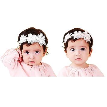 Bluemen Baby Mädchen Haarband //Stirnband Babyschmuck Baby Fotoshooting
