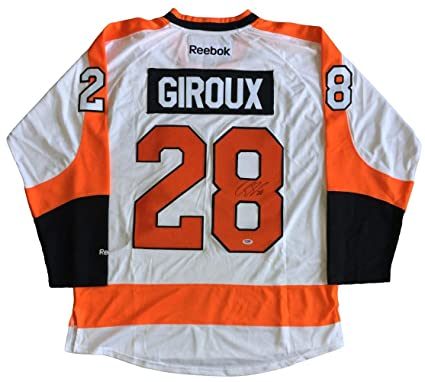 30e55d457 Image Unavailable. Image not available for. Color  Claude Giroux Signed  Autographed Philadelphia Flyers White Reebok Jersey PSA