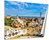 Ashley Giclee Park Guell In Barcelona Spain Wall art heavy thich museum grade artist paper, poster artwork ready to frame, 20x25 Print