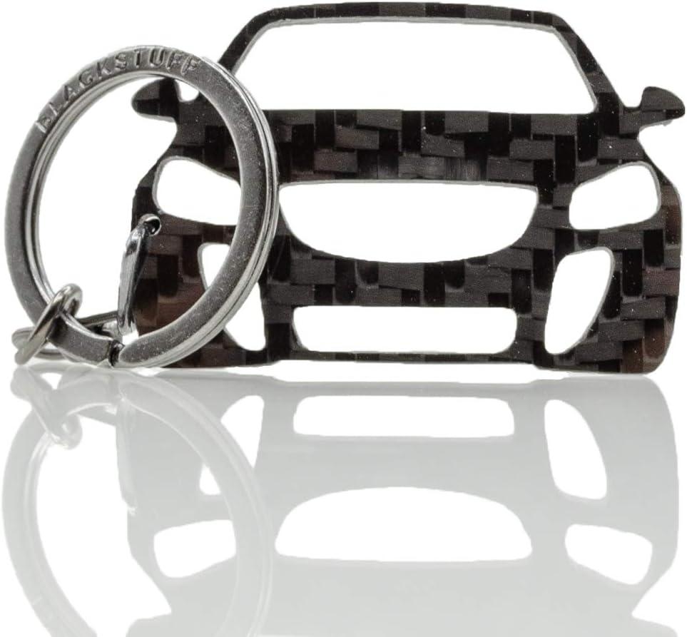 Blackstuff Carbon Karbonfaser Schlüsselanhänger Kompatibel Mit Insignia Opc 2008 2017 Bs 193 Auto