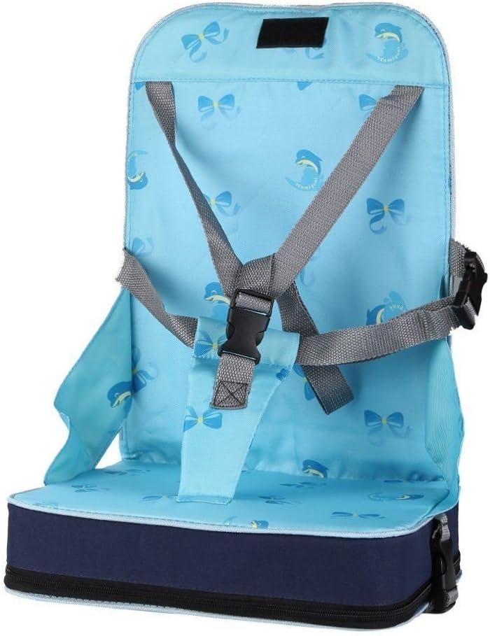 StillCool-Trona portátil Ajustable,Sillita para niño bebé,Asiento Plegable(Azul)