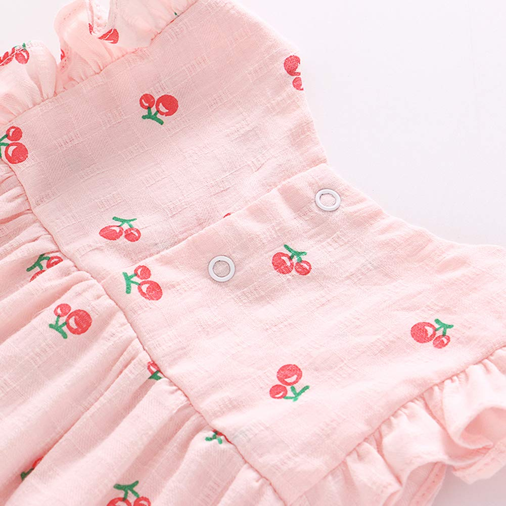 Feidoog Baby Girls Dress+Shorts Outfit with Bowknot Headband,Pink,12-18M by Feidoog (Image #4)