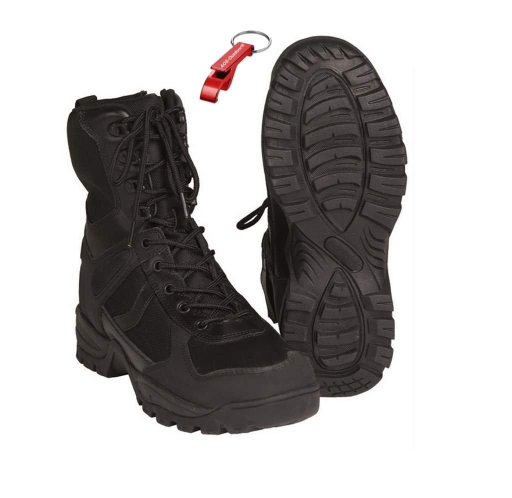 Patrol Swat Stiefel Patriot Einsatzstiefel + AOS-Outdoor® Schlüsselanhänger Gr. 40-47