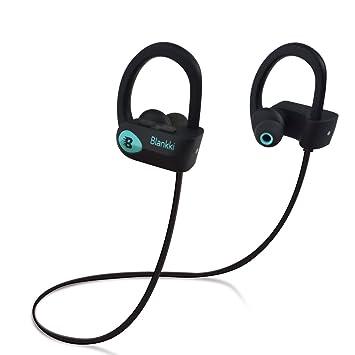 blankki Newest inalámbrica de alta definición y resistente al agua Bluetooth auriculares w/micrófono y