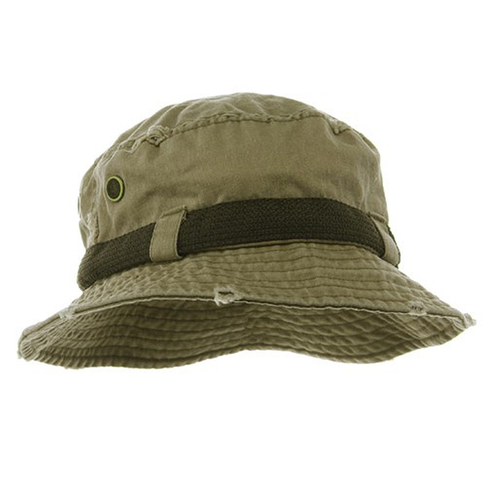 26c8613299684f Frayed Cotton Twill Washed Bucket Hat - Khaki S: Amazon.in: Clothing &  Accessories