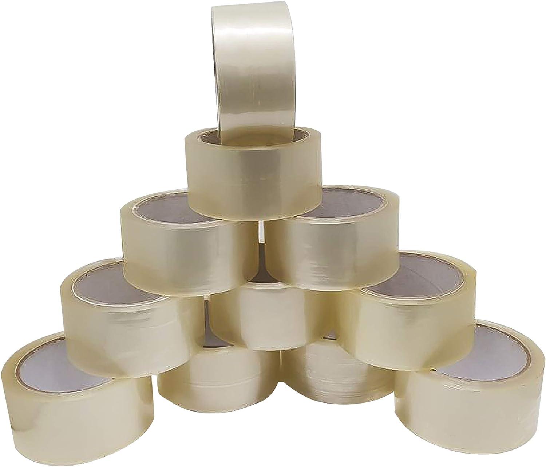 Alaskaprint 6 rollos 48 mm x 66 m transparente Paquete de cinta adhesive Banda de paquete Rollo adhesive cinta de embalaje para paquetes y cajas