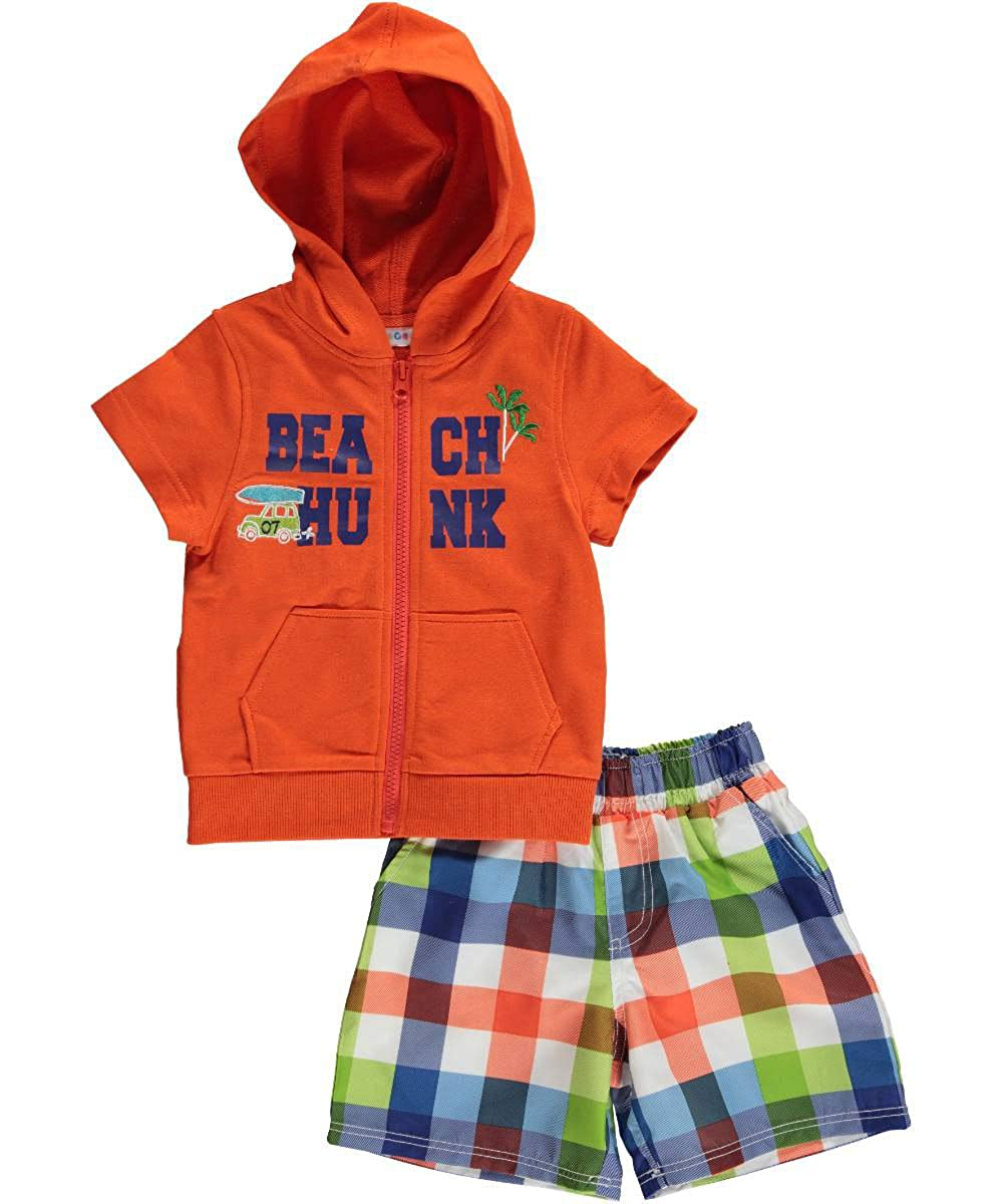 Wippette baby-boys Baby Beach Hunk Coverup Set Orange 18 Months WB69005