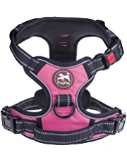 PoyPet No Pull Dog Harness Front 3M Reflective Pet Vest Dogs Easy Control Handle Back Leash Attachment Perfect Daily Training,Walking Running