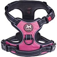 PoyPet No Pull Dog Harness, [Upgrade Version] No Choke Front Lead Dog Reflective Harness,…