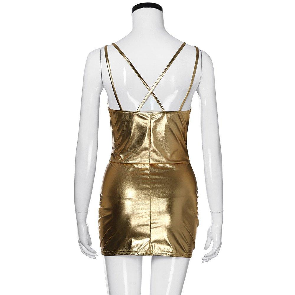 Amlaiworld Frauen hei/ßen /ärmelloses Kleid Clubwear Stripperin Kleid