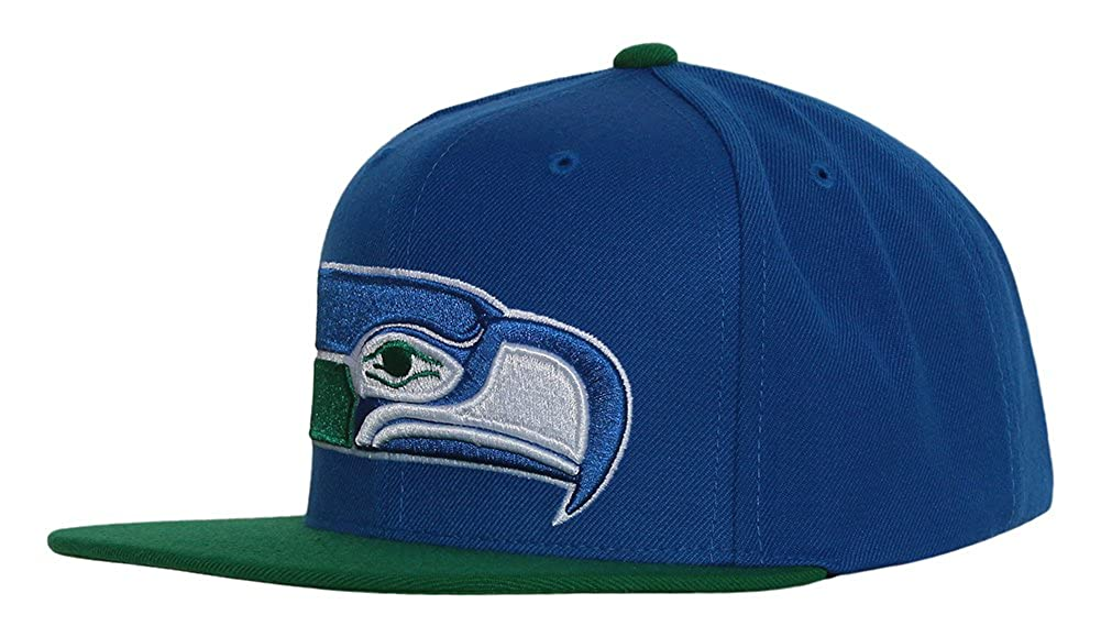 eb22d597b07fab Amazon.com: Seattle Seahawks Big Logo Blue/Green Adjustable Snapback ...