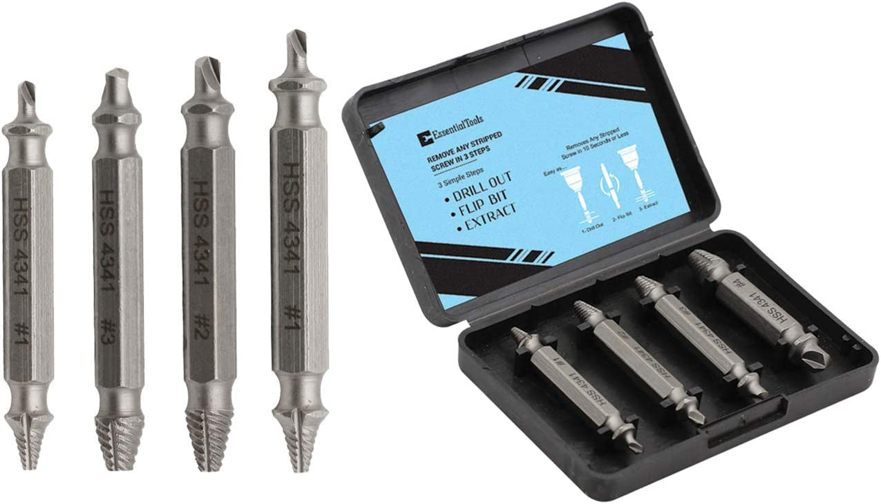 Damaged Screw Extractor Kit And Stripped Screw Extractor Set Its A Hasslefree Broken Bolt Extractor And Screw Remover Set Made From H S S 4341 With Hardness 63 65hrc Amazon Com