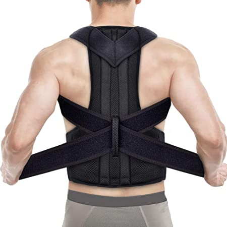Posture Corrector for Women and Men, Adjustable Back Posture Brace Perfect for Lower and Upper Back Pain, Back Support Brace Support Shoulder Posture Trainer for Adult Students Children (L)