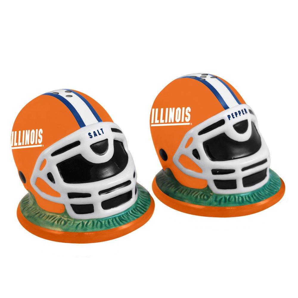The Memory Company NCAA University of Illinois Helmet Salt and Pepper Shakers