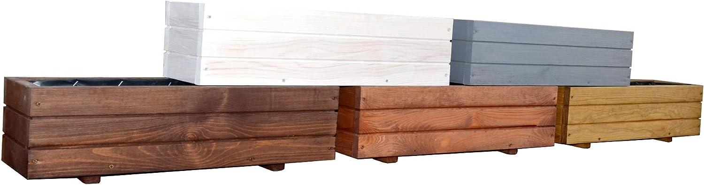 Kena D-6 - Jardinera de madera para jardín, alta calidad, 60/90 cm de longitud: Amazon.es: Jardín