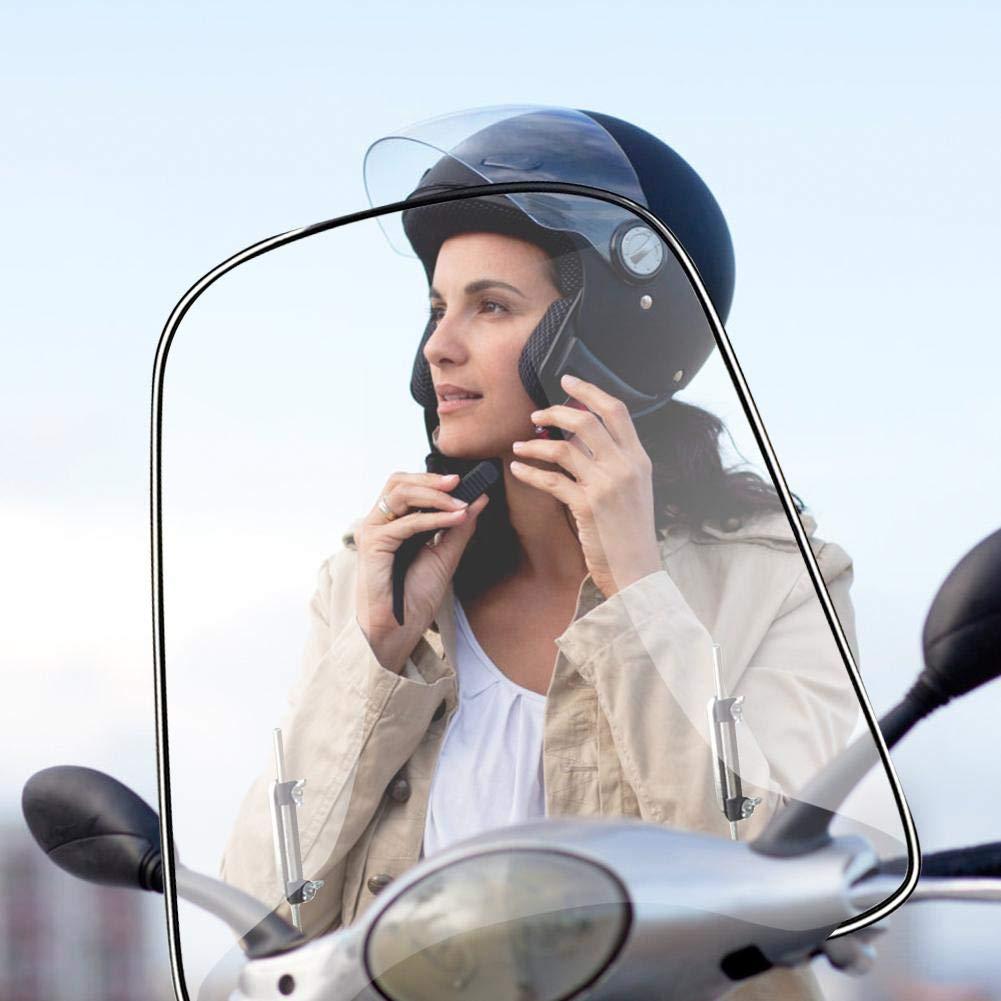 con Accesorios De Montaje miraculocy Parabrisas Moto Parabrisas con Estilo De M/últiples Funciones De La Motocicleta De Alta Definici/ón Resistente Y Suave para Motocicletas