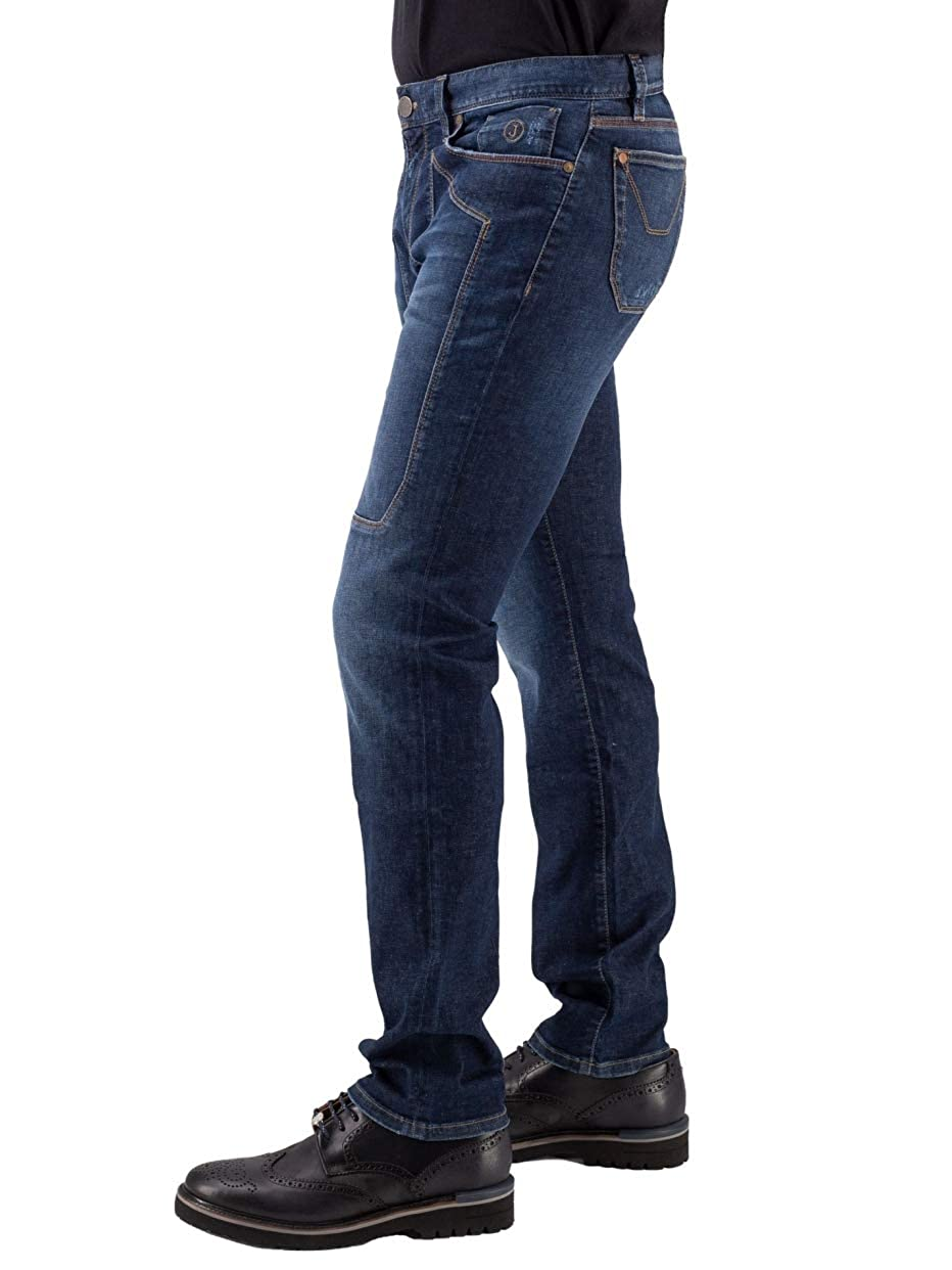 JECKERSON Jeans Cinque Tasche con Toppa Blu Notte