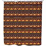 Uneekee Tribal Signs Shower Curtain: Large Waterproof Luxurious Bathroom Design Woven Fabric