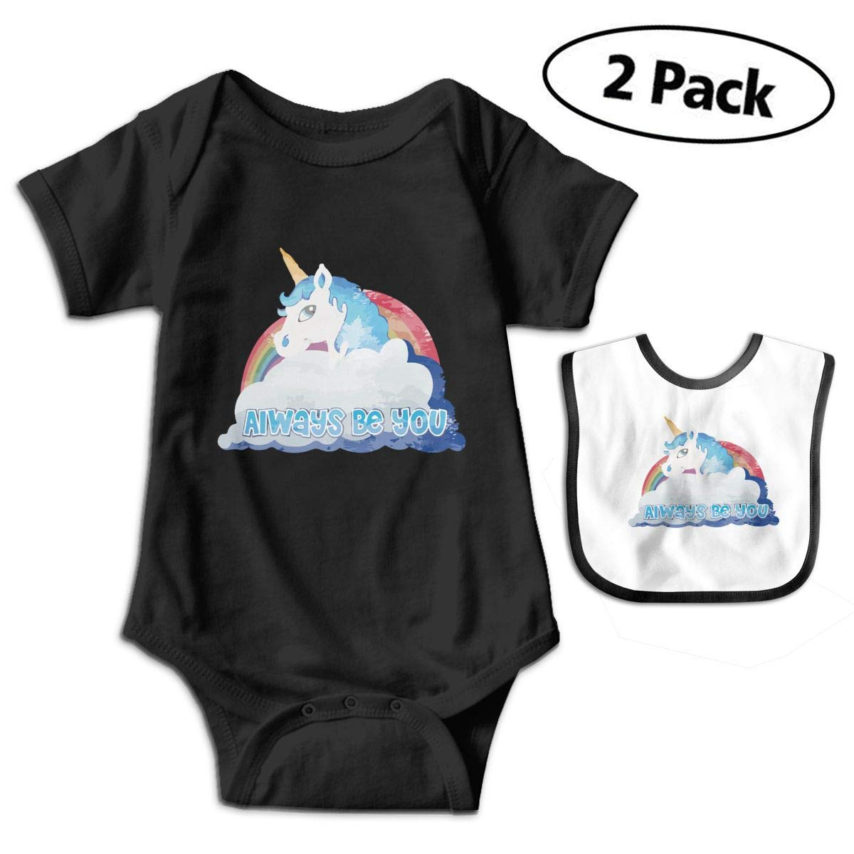 Faded Central Intelligence Unicorn Infant Baby Short Sleeve Romper Jumpsuit Bodysuit