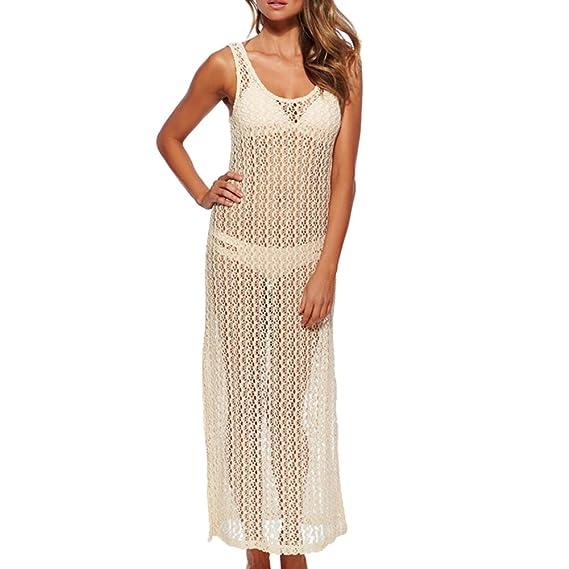 hibote Vestido de ganchillo cordón de las mujeres cubre para arriba la tapa del chaleco bralet: Amazon.es: Ropa y accesorios
